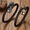 ieftine Coliere-Bărbați Zirconiu Cubic Brățări Bangle Clasic Credinţă Stilat Teak Bijuterii brățară Auriu / Argintiu Pentru Zilnic Concediu