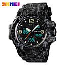 Недорогие Часы на кожаном ремешке-skmei 1155b мода мужчины спортивные часы мужчины кварцевые аналоговые светодиодные цифровые часы человек военные водонепроницаемые часы