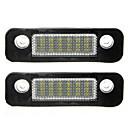 ieftine Lumini de Ceață Mașină-2pcs 12v 18leds lămpile cu număr de înmatriculare pentru ford mondeo mk2