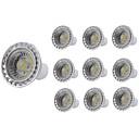 お買い得  LED スポットライト-10個 5 W LEDスポットライト 400 lm GU10 GU10 1 LEDビーズ COB 装飾用 温白色 クールホワイト 85-265 V