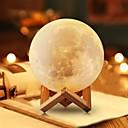 ieftine Benzi Lumină RGB-månlampa led nattlampa 3d jordklot ljusstyrka usb laddning laddningsbart hem dekorativt för baby barn nyår julklapp trä stativ 12 cm 4.7 tum
