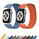 billige Apple Watch-remmer-ekte skinnløkke stropp for apple watch band 44mm 40mm 42mm 38mm skinn magnetisk loop armbånd iwatch 5 4 3 2 tilbehør