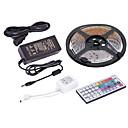ieftine Benzi Lumină RGB-5m Fâșii De Becuri LEd Flexibile / Fâșii RGB / Telecomenzi 300 LED-uri SMD3528 1 44 Controlul telecomenzii / Adaptor 1 x 12V 2A RGB Rezistent la apă / Ce poate fi Tăiat / Petrecere 12 V 1set
