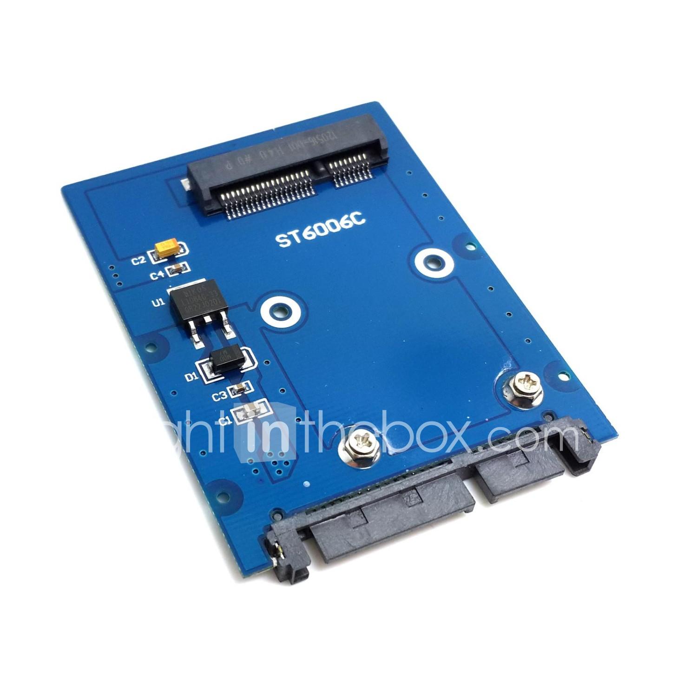 Slim Type Mini Pci E Msata Ssd To 25 Sata 30 22pin Hdd Adapter 22 Pin Card Converter 25quot Photo By Supplier