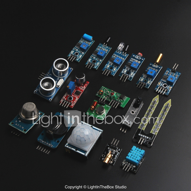 16 Types Sensor Module Kit For Arduino Raspberry Pi For Arduino