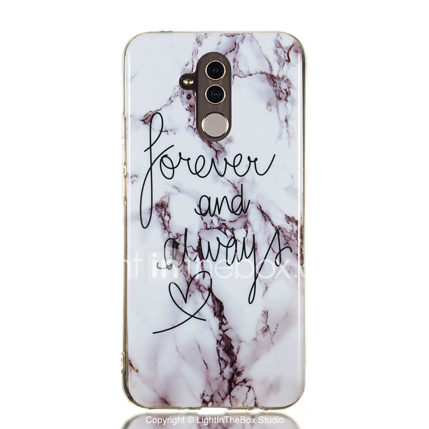Case For Huawei Huawei Honor 10 / Huawei Honor 9 Lite / Huawei Honor 8X IMD  / Pattern Back Cover Word / Phrase / Marble Soft TPU
