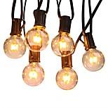 billiga -7.62M Ljusslingor 25 lysdioder Varmvit Vattentät / Party / Dekorativ 110-120 V 1set