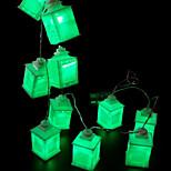 billiga -1.5m Ljusslingor 10 lysdioder Grön Dekorativ AA Batterier Drivs 1set