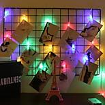 billiga -6m Ljusslingor 40 lysdioder Multifärg Dekorativ AA Batterier Drivs 1set