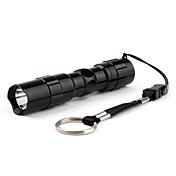 LED Lommelygter LED 50lm 1 lys tilstand Super Lett / Liten størrelse / Kompaktstørrelse Dagligdags Brug / Reise Svart