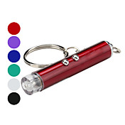 열쇠고리 손전등 레이저 LED lm 2 모드 - 배터리 포함 캠핑/등산/동굴탐험 실버 퍼플 레드 그린 블루