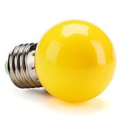 1pc 1 W 80 lm E26 / E27 LED-globepærer G45 8 LED perler SMD 2835 Dekorativ Gul 220-240 V / RoHs