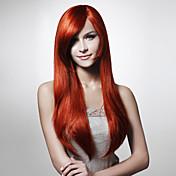 capless 패션 컬러 부드러운 직선 머리 가발 여러 색상 가능