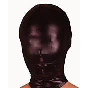 Máscara Ninja Zentai Disfraces de Cosplay Negro Un Color Máscara Espándex Unisex Halloween Navidad
