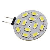 1.5W 150-200lm G4 LED-spotpærer 12 LED perler SMD 5730 Naturlig hvit 12V