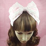 Joyas Amaloli Para la Cabeza Princesa Rosado Accesorios de Lolita Tocados Lazo Un Color por Algodón