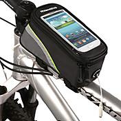 ROSWHEEL Vesker til sykkelramme Mobilveske 5.3 tommers Vanntett Vanntett Glidelås Berøringsskjerm Sykling til iPhone 8/7/6S/6