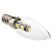 e14 led luces de vela c35 7 smd 5050 70lm blanco frío 6000k ca 220-240v