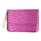 bolso de diseño drapeado telas satinadas caja para el ipad Mini 3, Mini iPad 2, iPad mini (fucsia)