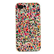 Funda Dura Multicolor para iPhone 4/4S con Diseño Geométrico