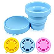 silicón del color del caramelo de la taza plegable 170ml (color al azar)