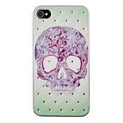 caja posterior del zircon del patrón del cráneo del tatuaje para las cajas del iphone del iphone 4 / 4s