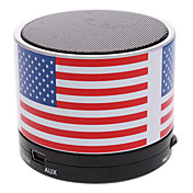 S10 USA Flag Mini Bluetooth høyttaler med TF-port for telefon / Laptop / Tablet PC