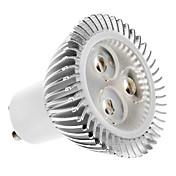 2700 lm GU10 LED-spotpærer MR16 3 leds Høyeffekts-LED Varm hvit AC 100-240V