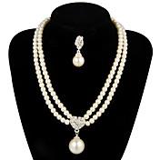 Conjunto de joyas De mujeres Aniversario / Boda / Pedida / Regalo / Fiesta Sets de Joya Perla / Aleación Perla Collares / Pendientes