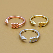Anillos Diario Joyas Legierung Anillos de DiseñoAjustable Dorado / Rosado / Plateado