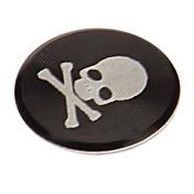아이폰에 대 한 두개골 인쇄 합금 블랙 홈 단추 스티커 / ipad / 아이팟