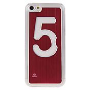 iPhone5C에 대한 다섯 번째 특징 순수한 색깔 접촉 스위치 LED 빛 케이스