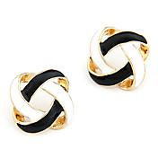 여성용 스터드 귀걸이 베이직 할로우 미니멀 스타일 합금 보석류 보석류 일상 캐쥬얼 의상 보석