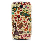 Torre Eiffel & Bread caso brillante de TPU para Samsung Galaxy S3 I9300