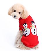 강아지 스웨터 강아지 의류 귀여운 따뜻함 유지 크리스마스 솔리드 코스츔 애완 동물