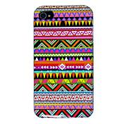 아이폰 4 / 4S를위한 다채로운 패턴 다시 케이스