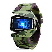 SKMEI Herre Digital Watch Armbåndsur Militærklokke Digital Alarm Kalender Kronograf Vannavvisende LED LCD Silikon Band Sjarm Grønn