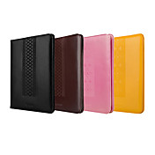 Color sólido moleteado Diseñado elegante del caso de cuero completo de cuerpo para iPad Aire (colores surtidos)
