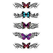 5 piezas de mariposa tatuaje temporal a prueba de agua (10.5cm * 20.5cm) HM322