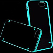 Efecto fluorescente después de encender Transparente de nuevo caso para el iPhone 4/4S (colores surtidos)
