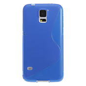 s form design gjennomsiktig myk plast tilbake tilfelle dekke for Samsung Galaxy s5 i9600