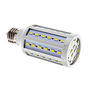 E26/E27 LED-kornpærer T 60 leds SMD 5730 Kjølig hvit 1000lm 6000-7000K AC 220-240V