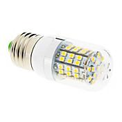 550-680 lm E26/E27 LED-kornpærer T 60 leds SMD 2835 Varm hvit AC 220-240V