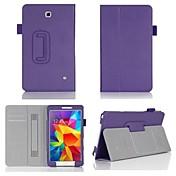 Para Funda Samsung Galaxy Soporte de Coche / con Soporte / Flip Funda Cuerpo Entero Funda Un Color Cuero Sintético Samsung Tab 4 8.0