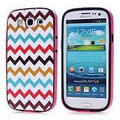 Para Funda Samsung Galaxy Diseños Funda Cubierta Trasera Funda Líneas / Olas Policarbonato Samsung S3