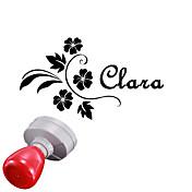 개인 30x40mm 결혼식& 비즈니스 꽃 패턴 타원형 감광성 인장 이름 스탬프를 새겨 (8 자 이내)