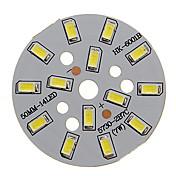 7w 600-650lm luz fría fresca 5730smd módulo led integrado (21-24v)