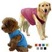 Hund Trøye/T-skjorte Hundeklær Ensfarget Grå Lilla Rose Grønn Blå Bomull Terylene Kostume For kjæledyr