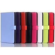 용 삼성 갤럭시 케이스 스탠드 / 플립 케이스 풀 바디 케이스 단색 인조 가죽 Samsung Tab 4 8.0