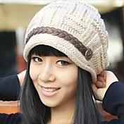 여성용 귀여운 캐쥬얼 겨울 화이트 블랙 베이지